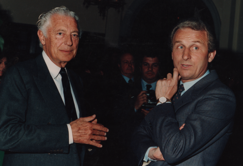 Gianni Agnelli and Trapattoni